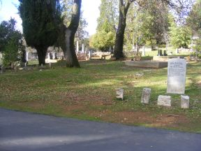 The cemetery at Columbia, California