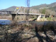 An old bridge crossing the South Fork American River at Coloma, California