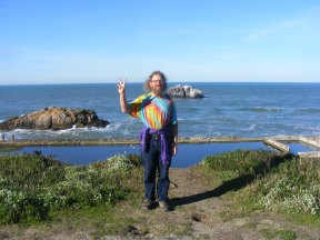 Being a tourist in San Francisco, California, at the Sutro Baths
