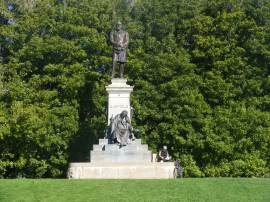 The monument to President Garfield in Golden Gate Park, San Francisco, California