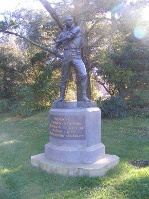The Ball Player, a sculpture by Douglas Tilden, in Golden Gate Park
