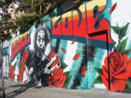 Near Haight Street in the Haight-Ashbury District, a mural of Jerry Garcia