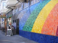 A mural adjacent to the Cole Cafe on Cole Street, in the Haight-Ashbury District