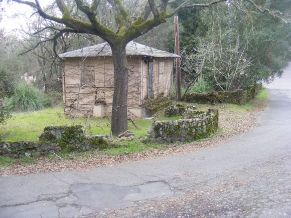 An outbuilding at the old Chanate Complex in Santa Rosa, California, owned by the County of Sonoma