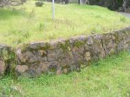 At the old Chanate Complex, a stone wall dated 1941 erected by the Works Progress Administration