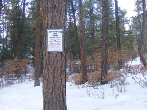 Signage for the Pueblo Mountain Park