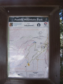 Map posted at the Tower Trail