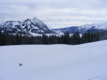Looking south past Mount Crested Butte