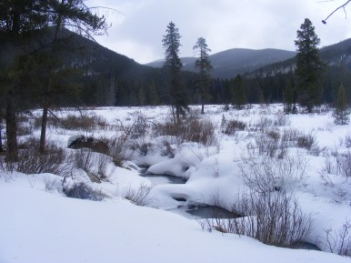 Looking over Middle Quartz Creek towards South Quartz Creek