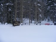 Quartz Campground in the middle of Winter