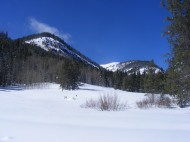 From the Gold Creek Campground, looking up towards Mill Creek