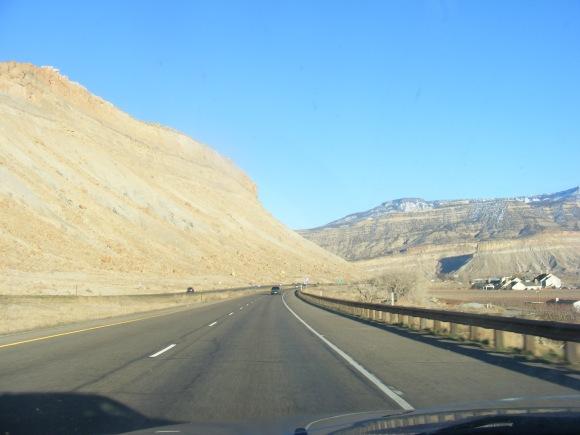 Cruising eastbound Interstate 70, above Palisade