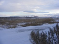 Windswept sagebrush steppe near the Ice Slough in Wyoming