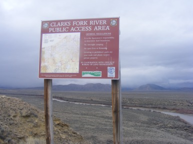 Clark's Fork River Public Access Area, north of Cody, Wyoming