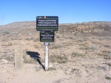 Campsite S2 in McInnis Canyons National Conservation Area
