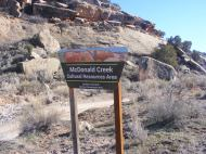 Entering McDonald Creek in McInnis Canyons National Conservation Area