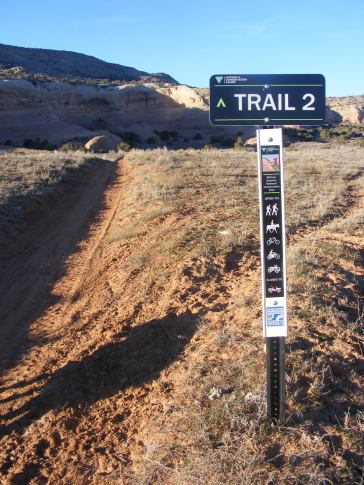 Trail 2 in Rabbit Valley