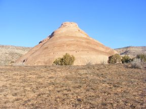 One of Castle Rocks in McInnis Canyons National Conservation Area