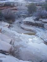 McDonald Creek cutting through sandstone