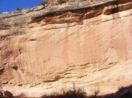 Sandstone cliff above McDonald Creek