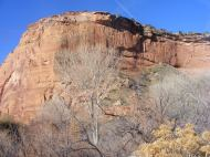 The western bluff above the confluence of McDonald Creek and the Colorado River