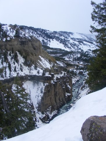 Looking upstream on the Yellowstone River; between Calcite Springs and Tower Falls