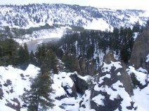 The Yellowstone River below the ski trail to Tower Falls; at Tower Creek