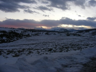 Sunset view of Blacktail Deer Plateau